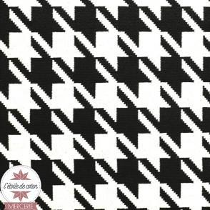 Tissu jacquard Ecailles Art Déco noir/or