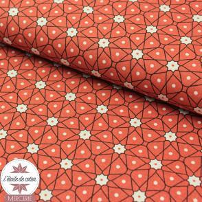 Tissu coton Ceramik bleu (Oeko-Tex)