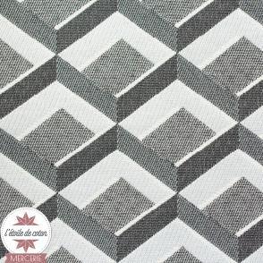 Tissu jacquard Comète gris/argent