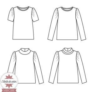 Patron Ikatee - Tee-shirt LOBELIA (enfant)