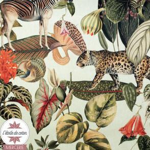 Tissu de décoration semi-panama - Empire Jungle