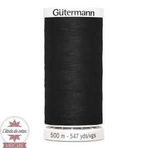 Fil Gütermann pour tout coudre 500 m - Noir N°000