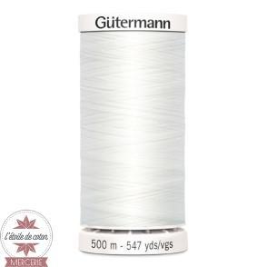 Fil Gütermann pour tout coudre 500 m - Blanc N°800