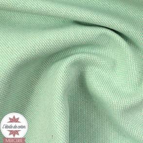 Tissu dobby - menthe claire