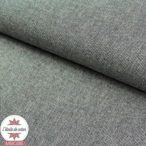 Tissu dobby - noir