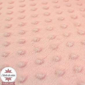 Minky pois bouton de rose - Oeko-Tex