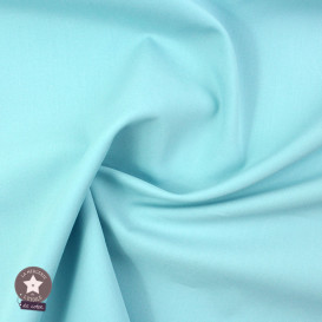 Popeline de coton - bleu clair (Oeko-Tex)