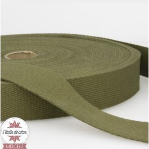 Sangle coton 30 mm - gris