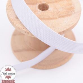 Elastique plat blanc - 5 largeurs