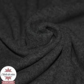 Tissu caban gris anthracite
