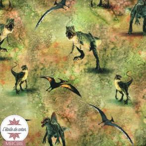 Sweat léger bouclette Wild Jurassic World - vert - Oeko-Tex