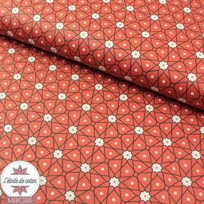 Coton enduit Ceramik - orange rouille