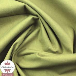 Popeline biologique à teinture végétale - Kassam Olive