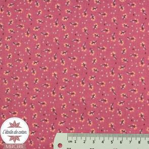 Tissu coton Lippy rose - Oeko-Tex