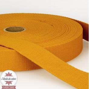 Sangle coton 30 mm - moutarde