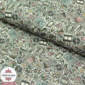 Tissu coton matériel d'école