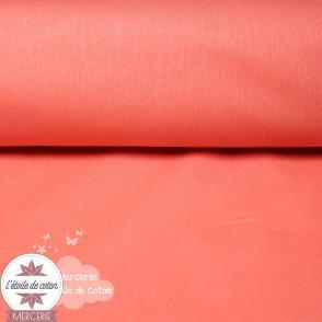 Tissu coton corail - Oeko-Tex