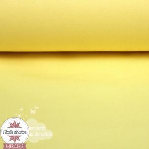 Tissu coton jaune poussin