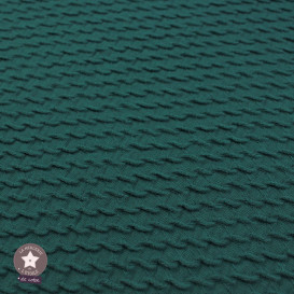Tissu  Jacquard coton/polyester mini vagues - pétrole - Oeko-Tex