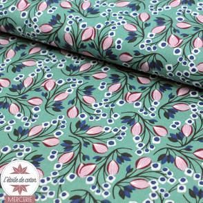 Tissu coton SELYN nil-violine - Oeko-Tex