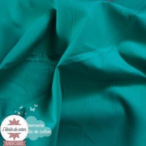 Tissu coton pétrole/canard