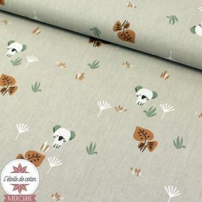 Tissu coton BIO - TIMIKO Ficelle - Oeko-Tex