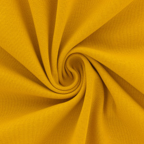 Jersey bord-côte Stof Avalana 160 cm - moutarde (Oeko-Tex)
