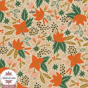 Toile canvas Cotton & Steel - Poinsettia