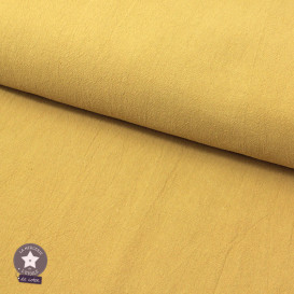 Tissu coton lavé - vert kaki