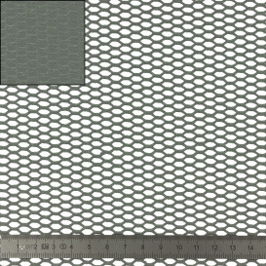 Tissu filet coton biologique - noir