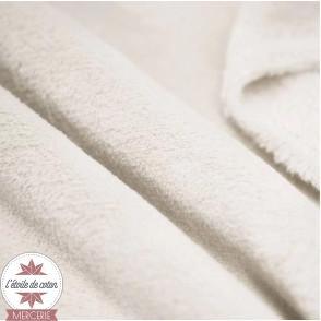 Tissu polaire doudou - beige clair