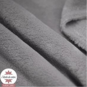 Tissu polaire doudou - gris clair