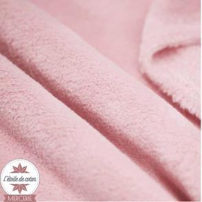 Tissu polaire doudou - rose corail