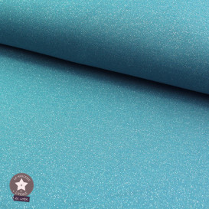 Tissu sweat molletonné lurex - bleu