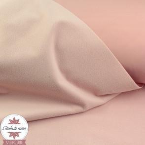 Tissu Softshell uni - rose