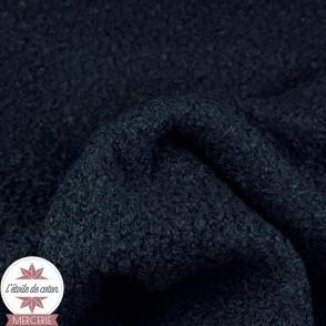 Tissu lainage bouclettes - noir