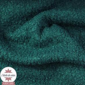 Tissu lainage bouclettes - rouille