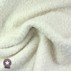 Tissu lainage bouclettes - pétrole/canard