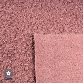 Tissu lainage bouclettes - ivoire