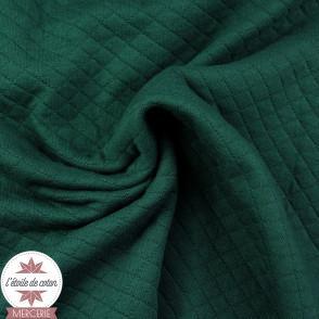 Jersey matelassé - vert sauge