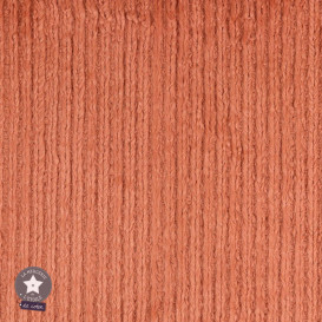Tissu fourrure fantaisie Rayures - marsala