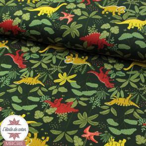 Sweat léger Bio - Dino en forêt by Poppy