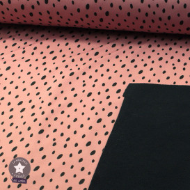 """Tissu déperlant/Softshell """"Layer Dots"""" rose by Poppy"""