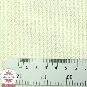 Tissu maille tricot - écru, lurex argent
