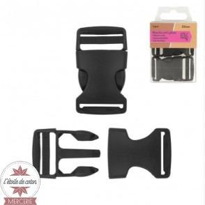 Boucle sac à dos anti-gliss 25 mm - blanc (lot de 2)