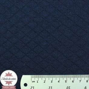 Jersey matelassé - bleu marine