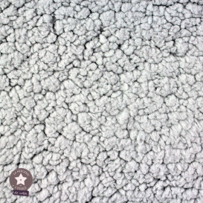 Tissu sherpa - gris (Oeko-Tex)