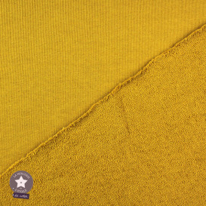 Tissu molleton coton uni blanc