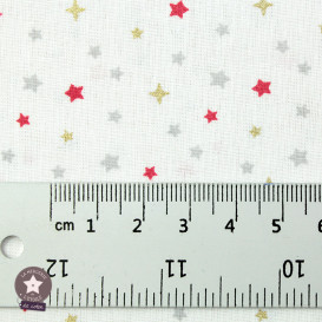 Tissu coton Simia Glitter gris/or - Oeko-Tex