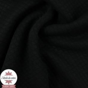Jersey matelassé mini losange - noir